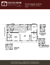 schult modular home floor plans schult integrity 5128 45 manufactured modular home