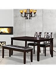 bench dining room table table benches amazon com