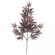 30 inch artificial burgundy japanese maple branch set of 12 p 50510