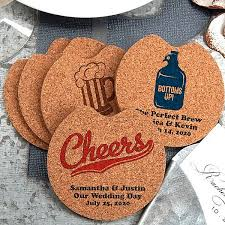 coaster favors custom printed cork car cup holder coaster wedding favors