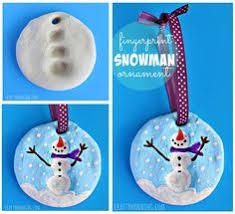 lines across clay thumbprint snowman ornament advent