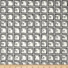 science fair periodic table grey discount designer fabric