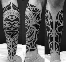 tattoo tribal na perna masculina tatuagens maori fotos e desenhos