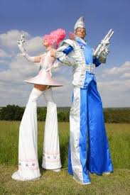 Halloween Costumes Stilts Newish Costume Creation Casino Showgirl Stilt Walker Characters