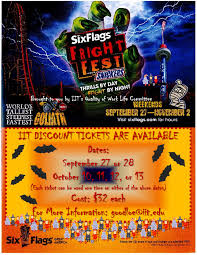 Six Flags Dates Illinois Tech Today Ff 2014 Poster