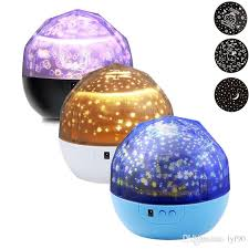 2017 rotation sleep soothing color changing night light projector