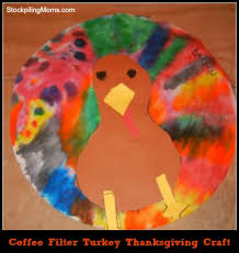 coffee filter turkey thanksgiving craft jpg