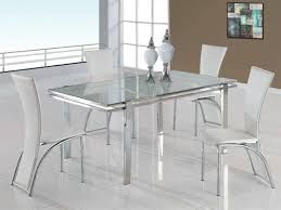 Simple Contemporary Glass Dining Room Sets Glamorous Modern - Contemporary glass dining room tables