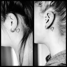 7 best behind ear tattoos images on pinterest semicolon tattoo