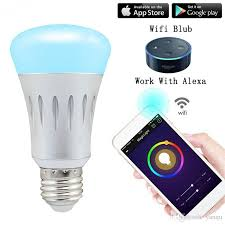 amazon echo compatible lights smart led bulb dimmable wifi led light bulbs econtrol works control