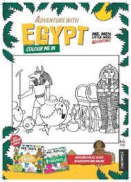 men adventure egypt colouring sheet