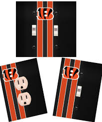 cincinnati bengals light switch wall plate custom covers man cave