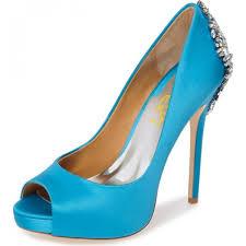 wedding shoes blue women s blue formal rhinestone stiletto heel wedding shoes for