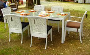 tavoli da giardino rattan tavolo da giardino in rattan akoya collezione perla arancio