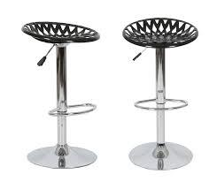 2x hydraulic gas lift swivel adjustable hollow acrylic bar stool chair