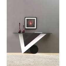 White Gloss Console Table White Gloss And Glass Console Table High Ebay Chrome Contemporary