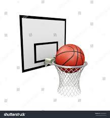 3d illustration basketball hoop ball on stock illustration