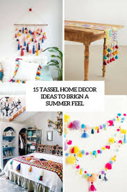 15 cheerful tassel home décor to bring a summer feel shelterness