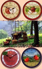 12 best apple u0026 fruit clocks images on pinterest large wall