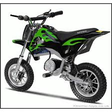kids electric motocross bike nitro 350w dirt bike in black green xtreme toys