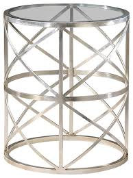 dining room round glass top metal end table free shipping on