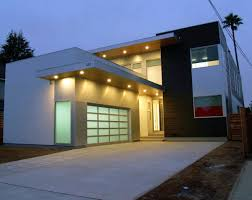 nice simple design facade house design contemporary with warm lamp