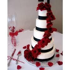 black u0026 white cascading rose petals round wedding cakes by