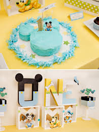 First Birthday Party Decoration Diy Creative Mickey Mouse 1St
