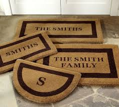 Monogrammed Rugs Outdoor by Personalized Doormat Pottery Barn