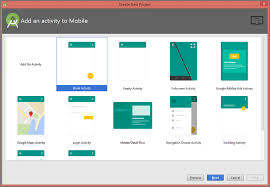 android activity create new project in android studio