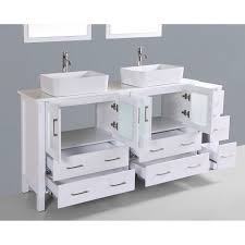 contemporary 72 inch white double rectangular vessel sink bathroom