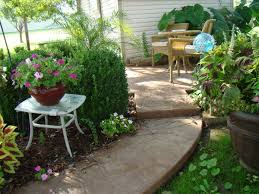 Concrete Patio Pavers by Riveting Acid Stained Concrete Patio For Flagstone Shaped Pavers