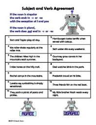 subject verb agreement worksheet subject verb agreement