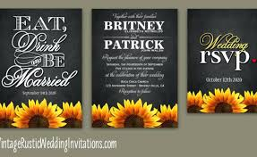 sunflower wedding invitations wedding invitations sunflower gardening flower and vegetables