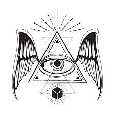 all seeing eye with wings all seeing eye t shirt teepublic