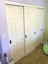 Large Closet Doors 3 Panel Closet Sliding Door 2 Panel 2 Track Hollow Bypass