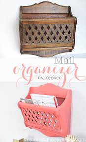 mail organizer makeover blooming homestead