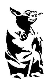 yoda stencil template stencil templates pinterest stencil