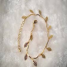 simple gold bracelet jewelry images Newest sexy simple gold anklet ankle bracelet leaf foot chain jpg