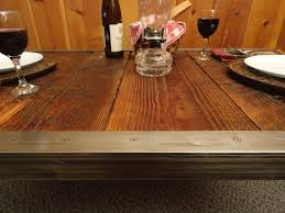 30 x 48 dining table industrial dining table with raw steel trim and hairpin legs 30 x 30