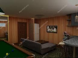 modern billiard room interior u2014 stock photo lisunova 81656132