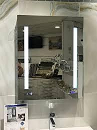 Defog Bathroom Mirror by Amazon Com Cali Led Bathroom Mirror Cabinet With Demister Pad