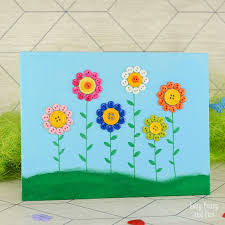 button flowers button flowers canvas easy peasy and