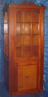 Corner Cabinet With Glass Doors Pine Corner Cabinet Pair 3 Shelf 12 Panel Glass Doors Full Hand