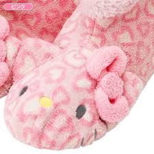 hello kitty microfiber poofy indoor shoes slippers pink sanrio
