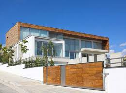 large modern wooden and white exterior layout houses with white