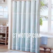 baby blue coral simple unique modern primitive shower curtains