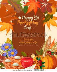 happy thanksgiving day vector greeting card stock vector 721300528