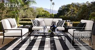 Patio Furniture Metal Metal Outdoor Furniture Williams Sonoma