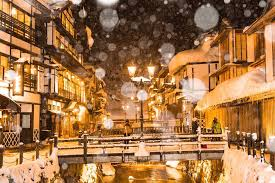 japanese town magical japanese town under the snow fubiz media